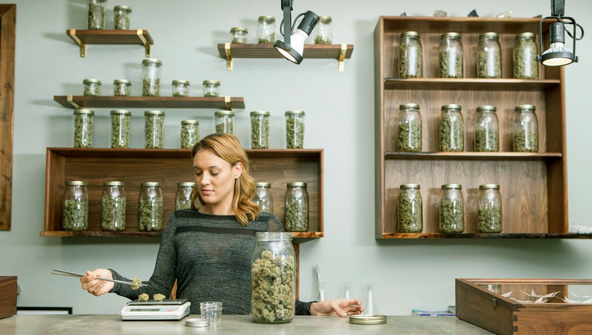 Unlike coffeeshops, you can't consume marijuana in dispensaries.