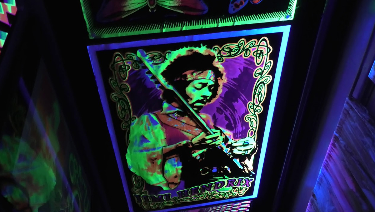Ode to Jimi Hendrix in the Electric Ladyland - Museum of Fluorescent Art.