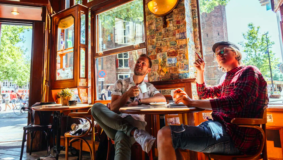 There are party inclined coffeeshops or more of the chill type in Holland.