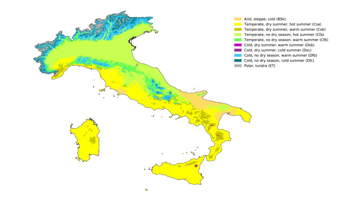 Climate regions in Italy for growing cannabis