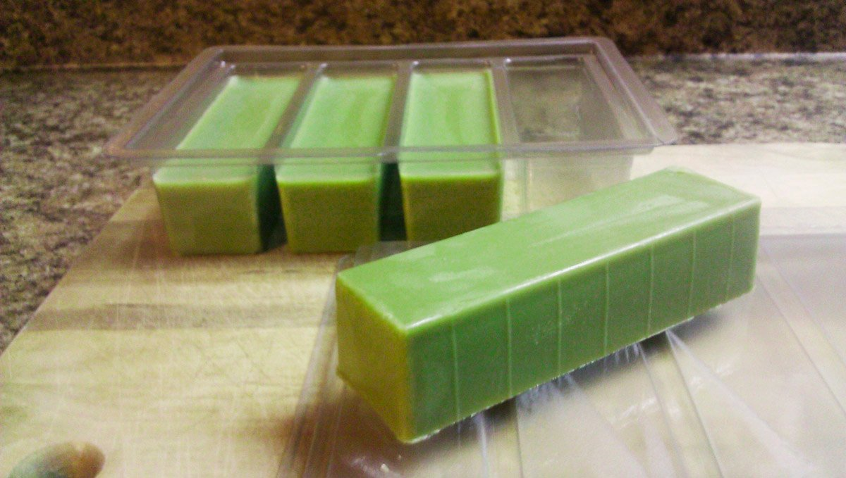 Separate your cannabutter in molds before freezing.
