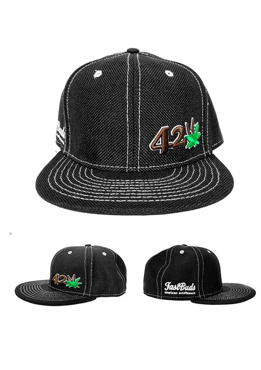 Black and Green 420 Hat