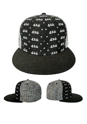 Black and Grey 420 Hat