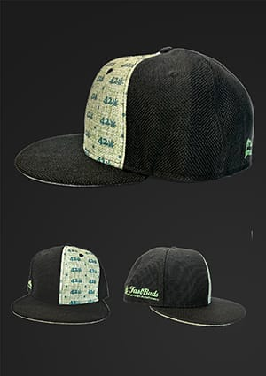 Green and Black 420 Hat